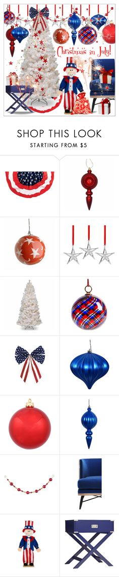 """Christmas in July!  II"" by calamity-jane-always ❤ liked on Polyvore featuring interior, interiors, interior design, home, home decor, interior decorating, Nambé, National Tree Company, Improvements and Inspire Q"