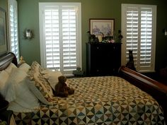 plantation shutters for the guest room.  Should we go full length or half and half??