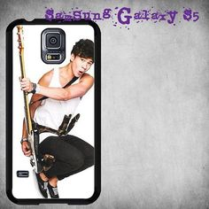 Calum Hood in Action with His Guitar Print On Hard Plastic For Samsung Galaxy S5 , White Case  Description:  Create special case by using your favorite photos or thoughts to inspire and motivate you e