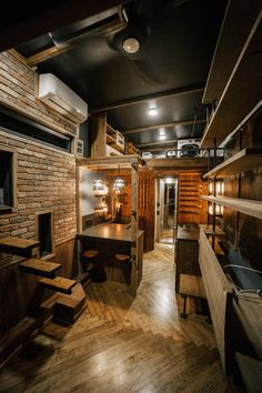 The Rook, an industrial-chic tiny house, deigned and built by Wind River Tiny Homes.