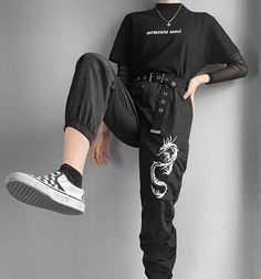 - Source by - Cute Casual Outfits, Edgy Outfits, Korean Outfits, Grunge Outfits, Girl Outfits, Aesthetic Grunge Outfit, Aesthetic Fashion, Aesthetic Clothes, Aesthetic Vintage