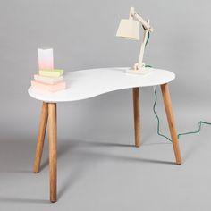 Ray skrivebord, hvid/egetræ i gruppen Møbler / Bord / Skrivebord hos ROOM21.dk (124002)