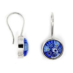Murano Glass Millefiori Blue 10mm Round Sterling Silver Earrings Millefiori,http://www.amazon.com/dp/B003CTIY2W/ref=cm_sw_r_pi_dp_F8njsb02F70Q7C54