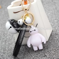 6cm Fashion Big Hero 6 Baymax Keychain PU leather Key Chain Anime toys small bell Phone rope, View Key Chain, donnatoyfirm Product Details from Guangzhou Donna Fashion Accessory Co., Ltd. on Alibaba.com