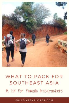 What to pack for a year in Southeast Asia - Female packing list - what to bring to Thailand, Cambodia, Vietnam, Laos, Myanmar, India, Nepal, Singapore, Malaysia, Indonesia