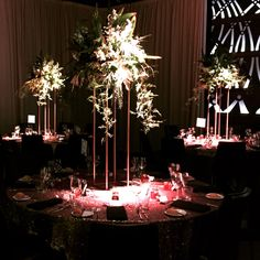 Gold stand with lush foliages