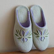 """Обувь ручной работы. Ярмарка Мастеров - ручная работа Валяные тапочки """"Magnolia"""". Handmade."""