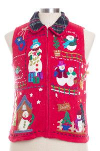 Red Ugly Christmas Vest 28326