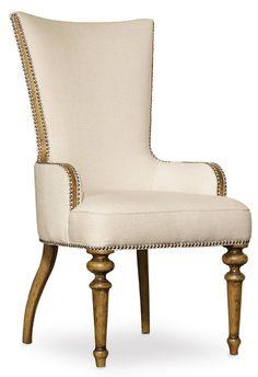 Hooker Furniture Auberose Upholstered Host Chair 1595-75500-BRN