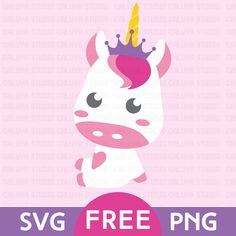 Download Kawaii Unicorn Free SVG, PNG & DXF file for your DIY project. Files compatible with Cricut, Cameo Silhouette Studio and other cutting machines.
