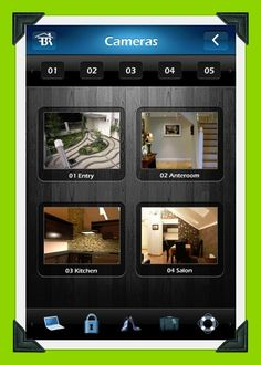 Here the Fibaro App is displaying multiple IP cameras on a Smartphone.