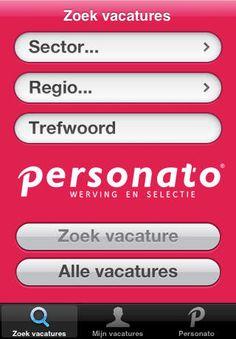 De Personato vacatures app bevat het actuele aanbod van alle vacatures in jouw regio. Maak gebruik van onze handige, gebruiksvriendelijke zoekmachine om elke dag de nieuwste vacatures te bekijken op je eigen device.