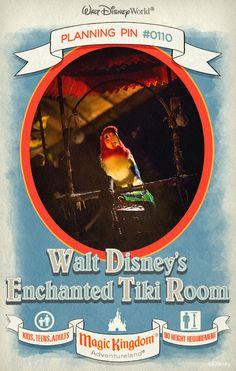 Walt Disney World Planning Pins: Walt Disney's Enchanted Tiki Room