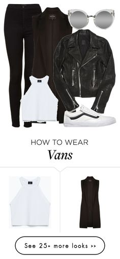 """Untitled #988"" by girlfriendof1d on Polyvore featuring Topshop, River Island, RtA, Zara, Quay and Vans"