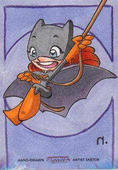 Nina Edlund's DC Comics Women Sketchcards: Batwoman