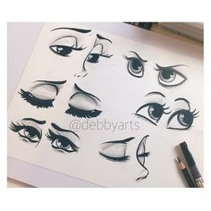 Now online on my channel 6 type of eyes!!! Enjoy✨✏️ #debbyarts #art #illustration #draw #drawing #summer #love #manga #disney