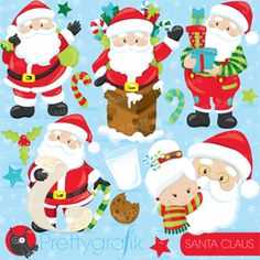 polka dot christmas tree Christmas Clipart scrapbooking, cute christmas elements Santa graphics stockings candy cane illustrations