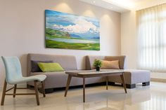 Modern Oil Painting, Oil Painting On Canvas, Love Drawings, Dining Table, Landscape, Awesome, Interior, Furniture, Etsy