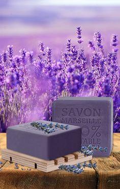 SAVON DE MARSEILLE %100 BİTKİSEL ZEYTİNYAĞLI KATI SABUN LAVANTA 150 GR KUTULU