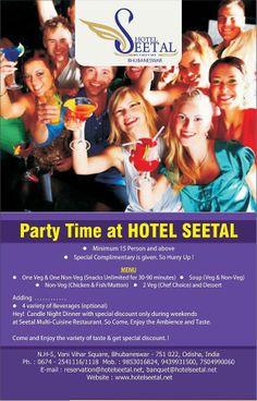 Party Time At Hotel Seetal #Bhubaneswar http://hotelseetal.net/?p=655  Call Us 09853016824, 09439931500 , 07504990060