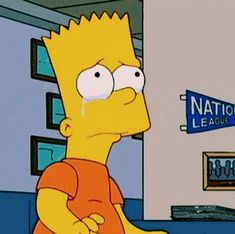 simpsons bart is mad Simpsons Frases, Simpsons Meme, Simpsons Quotes, The Simpsons Tumblr, Sad Pictures, Reaction Pictures, Cartoon Memes, Cartoon Pics, Cartoons