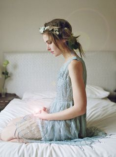 This is such a beautiful and etherial dress - Muted Mint Sequin Dress