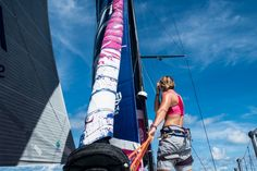 February 20, 2015. Leg 4 to Auckland onboard Team SCA. Day Anna-Lena Elled / Team SCA / Volvo Ocean Race