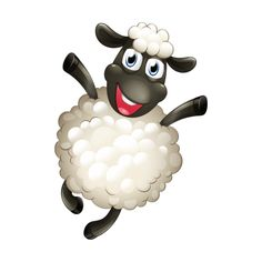 Funny Sheep Cartoon Clip Art Images Are On A Transparent Background Funny Sheep, Cute Sheep, Eid Crafts, Clay Crafts, Sheep Cartoon, Eid Stickers, Sheep Crafts, Sheep Art, Shaun The Sheep