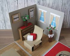 Geschenkbox Relax Sessel Sofa Überraschungsbox Explosionsbox Geldgeschenk Gutschein Möbel Exploding Boxes, Beautiful Handmade Cards, Marianne Design, Pop Up Cards, Box Design, Relax, Graphic Design Inspiration, Art For Kids, Toddler Bed