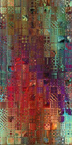 Artist Made Mixed Media Textile Art Spice Fabric por jacquedesigns