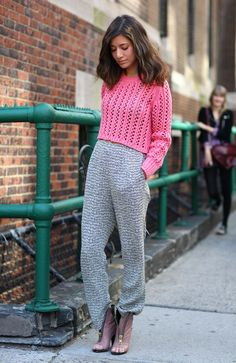 Pink and Grey | Street Fashion | Street Peeper | Global Street Fashion and Street Style. Looking at the future from 1986