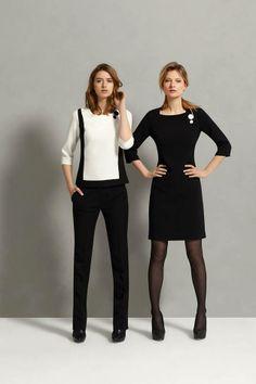 vestido y pantalón de color negro... los comodines del guardarropa