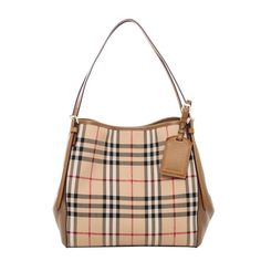 Burberry Women s Small Canter in Horseferry Check and Leather Beige Wine 7de7012d510d5