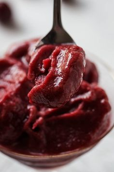 When it comes to dessert, you really can't get much healthier than this! Cherry Sorbet Recipes, Ice Cream Recipes, Paleo Dairy, Dairy Free, Gluten Free, Healthy Desserts, Dessert Recipes, Healthy Recipes, Healthy Eats