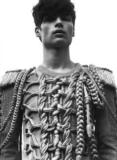 Knot. #knitwear #fashion #2014 / Pinterest / how different types of tied ropes are used in a harmony