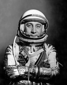 Mercury era Gus Grissom. Astronauts In Space, Nasa Astronauts, Gus Grissom, Project Gemini, Soyuz Spacecraft, Project Mercury, Apollo 1, Apollo Program, Nasa Missions