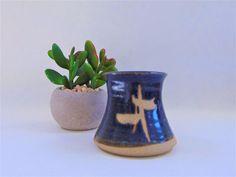 Studio Pottery Trident Valerie Rees Stoneware Pot Valerie Rees Signed Ceramics