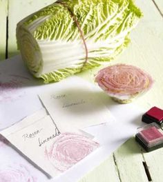 DIY Lettuce Rose Stamp