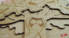 Puzzle Drzewo by Szlaki Wyobrazni , laser cut
