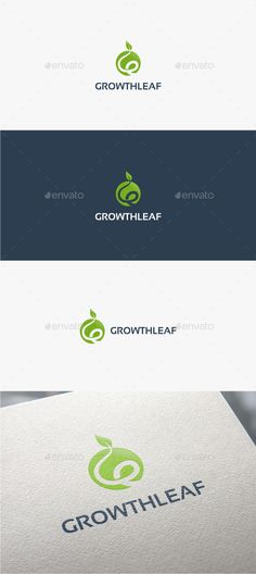 Growth Leaf  - Logo Design Template Vector #logotype Download it here: http://graphicriver.net/item/growth-leaf-logo-template/10923262?s_rank=1077?ref=nexion