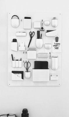 Organised work station. MA MAISON BLANCHE: Design propagandistka