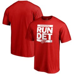 NHL Detroit Red Wings Run City T-Shirt - Red