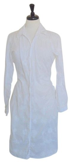 Johnny Was Large Button Down Collared Embroidered Shirt Dress Boho $369 #JohnnyWas #ShirtDress