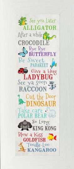 Such cute sayings for the classroom! See You Later Alligator by Summer Snow