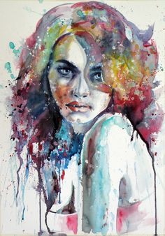 ARTFINDER: Girl by Kovács Anna Brigitta - Original watercolour painting on high quality watercolour paper. I love landscapes, still life, nature and wildlife, lights and shadows, colorful sight. Thes...