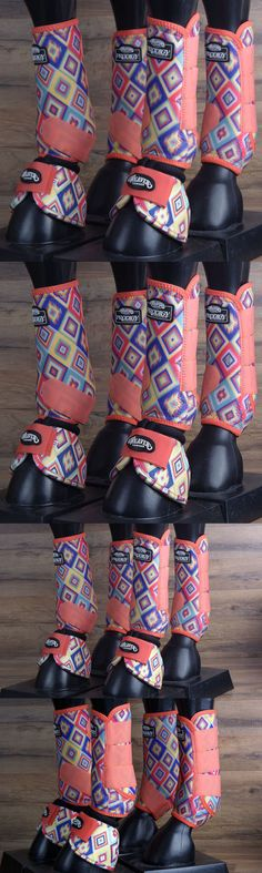 Horse Boots 85260: Med Weaver Horse Front Rear Leg 2520D Bell Prodigy Sports Boots 6 Pack Aztec BUY IT NOW ONLY: $119.99