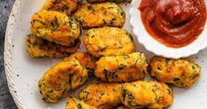 Zucchini Tots Diet Meals, Diet Recipes, Healthy Recipes, Healthy Menu Plan, Appetizer Recipes, Appetizers, Zucchini Tots, Oven Baked, Menu Planning