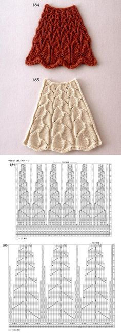 EXPANSION knitting pattern in a circle (spokes)