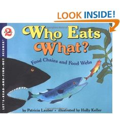 """Who Eats What? Food Chains and Food Webs"" ocean children's book by Patricia Lauber, illustrated by Holly Keller"
