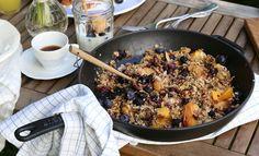 Zosia Cudny - pieczone brzoskwinie z kruszonką z otrębów